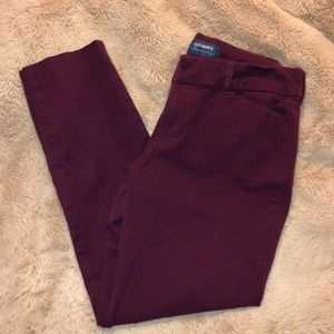 Old navy pixie ankle pant 8 purple